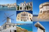 A collage of Menorca island, Spain — Stock Photo