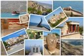 A collage of Crete island, Greece — Stock Photo