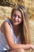 Blonde on the beach — Stock Photo