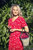 Vintage girl — Stockfoto