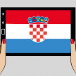 Tablet with flag of Croatia — Stock Vector #52126257