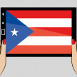 Tablet with flag of Puerto Rico — Stock Vector #52128219