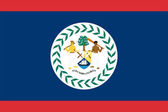 The flag of Belize — Stock Vector
