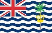 флаг британской территории в индийском океане — Cтоковый вектор