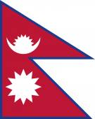 The flag of Nepal — Stockvektor