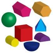 Illustration of 3d shapes isolated on clean background — Stock Photo