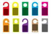 Illustration of blank colourful Do Not Disturb Signs — Stock Photo