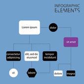 Illustration of Modern infographic chart — Stock Photo