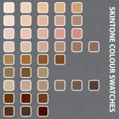 Illustration of Colourful Swatches on Grey Background — Stock Photo