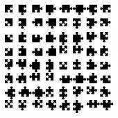 Illustration of Jigsaw puzzle blank parts — Stock Photo