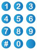 Illustrated set of buttons with numbers on — Foto de Stock