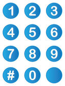 Illustrated set of buttons with numbers on — Stock Photo