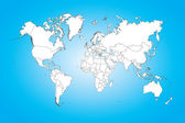 World map illustration isolated on clean background — Stock Photo