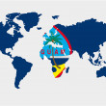 Постер, плакат: The world with flag of Guam