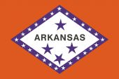 Flag of the American State of Arkansas — Stock Vector