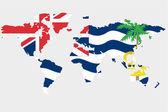 мир с флагом британской территории в индийском океане — Cтоковый вектор