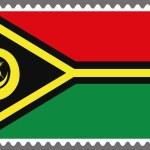 Постер, плакат: Stamp with the Flag of Vanuatu