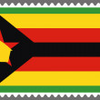 Постер, плакат: Stamp with the Flag of Zimbabwe
