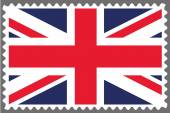 Stamp with the Flag of the United Kingdom — Vector de stock