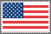 Stamp with the Flag of the United States of Am — Vector de stock