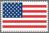 Stamp with the Flag of the United States of Am — Stock Vector