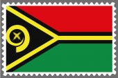 Stamp with the Flag of Vanuatu — Stock Vector