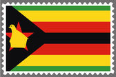 Stamp with the Flag of Zimbabwe — Stock Vector