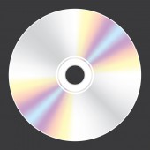 Blank Compact Disc isolated on white background — Stock Vector