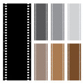 Illustration pack of film strips isolated on white background — Vector de stock