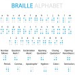 Braille and Morse Code alphabet — Stock Vector #53825905
