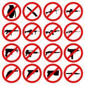 Set van wapen pictogrammen — Stockvector