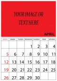 2015 Calendar isolated on white background — Stock Vector