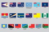 Set of Infographic Elements for the Country of Oceania — Stock Photo