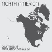 Set of Infographic Elements for the Country of NorthAmerica — Стоковое фото