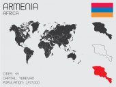 Set of Infographic Elements for the Country of Armenia — Стоковое фото