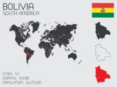Set of Infographic Elements for the Country of Bolivia — Stock Photo