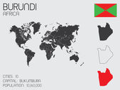 Set of Infographic Elements for the Country of Burundi — Стоковое фото