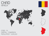 Set of Infographic Elements for the Country of Chad — Стоковое фото