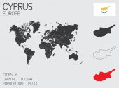 Set of Infographic Elements for the Country of Cyprus — Стоковое фото