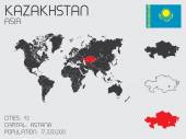 Set of Infographic Elements for the Country of Kazakhstan — Stock Photo