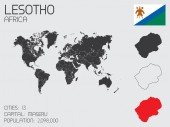 Set of Infographic Elements for the Country of Lesotho — Стоковое фото