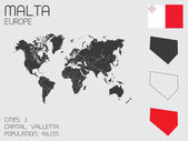 Set of Infographic Elements for the Country of Malta — Стоковое фото
