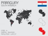 Set of Infographic Elements for the Country of Paraguay — Стоковое фото