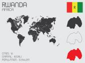 Set of Infographic Elements for the Country of Rwanda — Стоковое фото