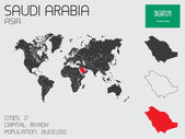 Set of Infographic Elements for the Country of Saudi Arabia — Stock Photo