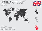Set of Infographic Elements for the Country of United Kingdom — Foto de Stock