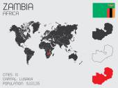 Set of Infographic Elements for the Country of Zambia — Стоковое фото