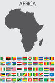 Set of Infographic Elements for the Country of Africa — Stockvector