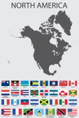 Set of Infographic Elements for the Country of NorthAmerica — Stockvector