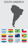 Set of Infographic Elements for the Country of SouthAmerica — Stockvector